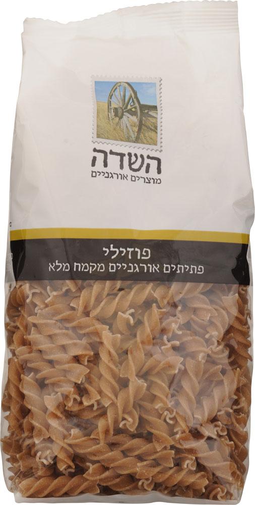 Organic Fusilli Whole Wheat Flour Ha-Sade 500G