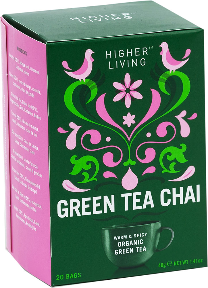 Organic Green Tea Higher Living 45G