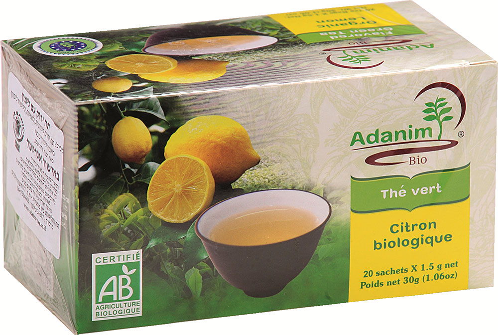 Organic Lemon Green Tea Adanim 20