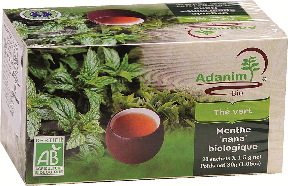 Organic Mint Green Tea Adanim 20