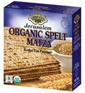 Organic Spelt Matzah 300G