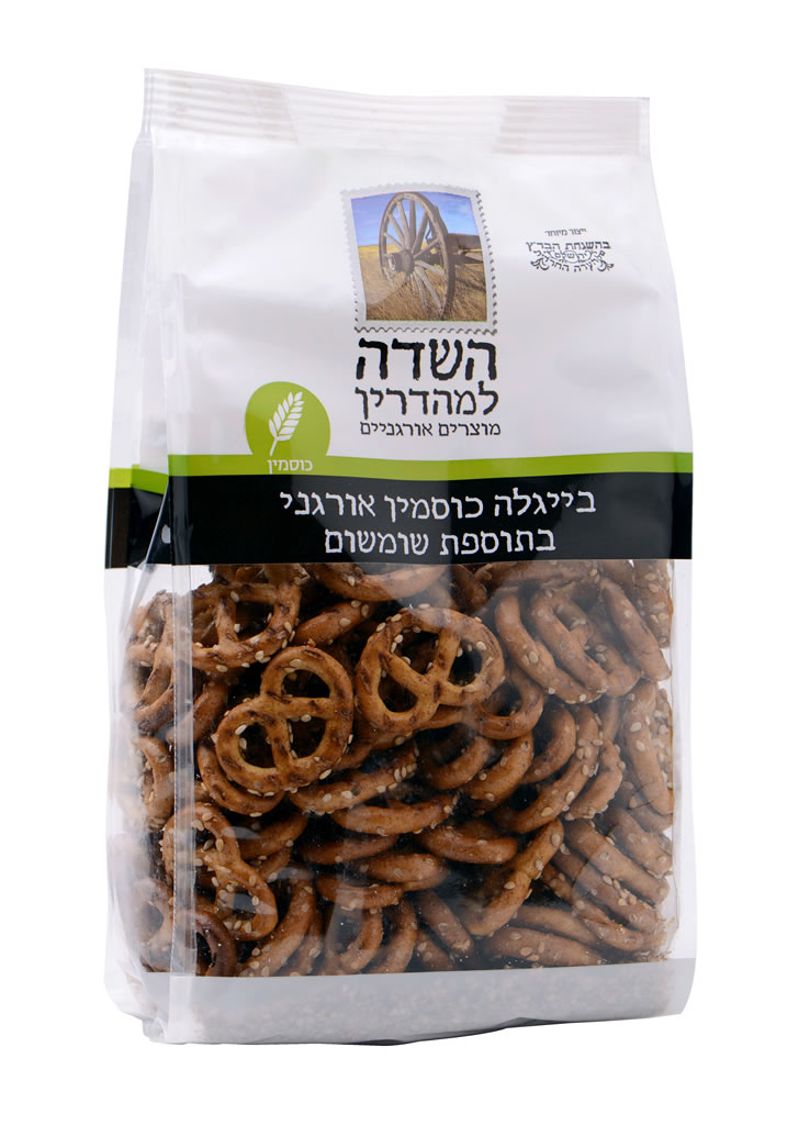 Organic Whole Wheat Sesame Pretzels Ha-Sade 200G