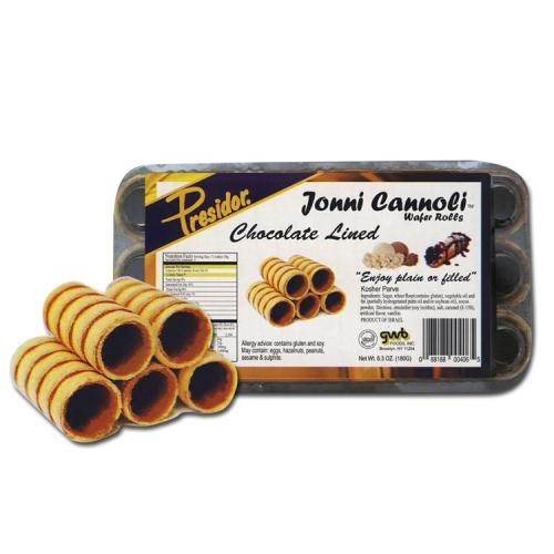Presidor Jonni Rolls Chocolate Lined 180G