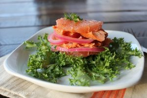 Pickled Salmon with Green Onion 200G