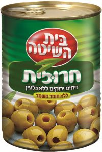 Pitted Green Manza Olives Beit Hashita