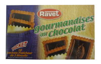 Ravet Pocket Chocolate Biscuits Large Box 10pc