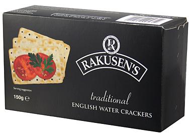 Rakusen Water Crackers (Black)  150G