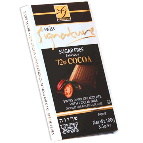 Signature Sugar Free Chocolate  Dark 72% Cocoa 100G