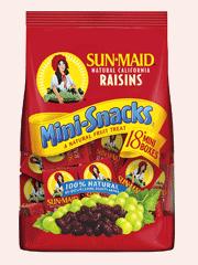 Sunmaid Mini Raisins Bags 18*14G