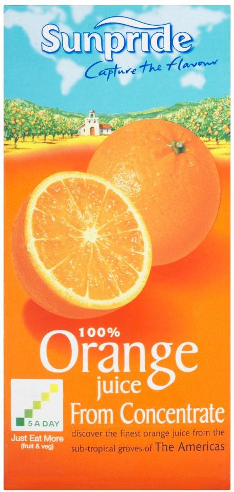 Sunpride Orange Juice 1L