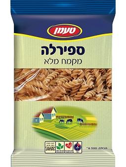 Tamman Whole Wheat Pasta  Fusilli  500G