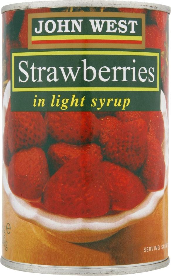 Tinned Strawberries 411G
