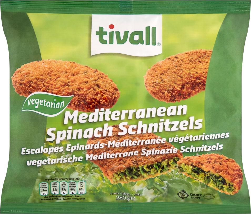 Tivall Medeiterranean Spinach Schnitzels 280G