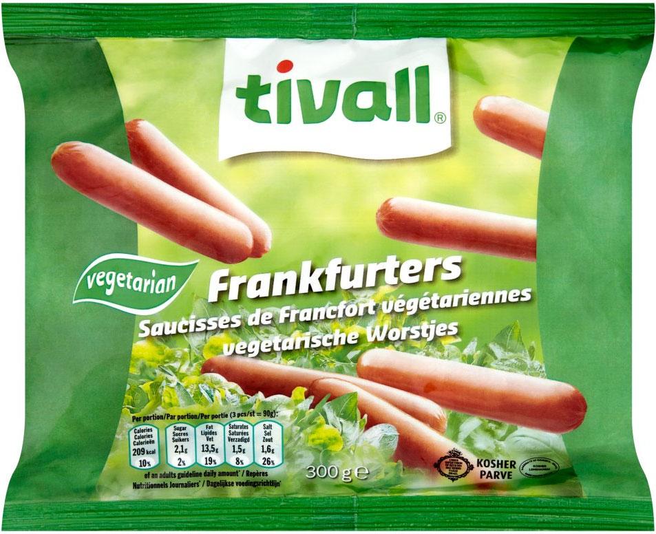 Tivall Vegetarian Sausage Franfurter Style 300G