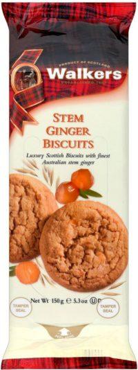 Walkers Stem Ginger Biscuit 150G