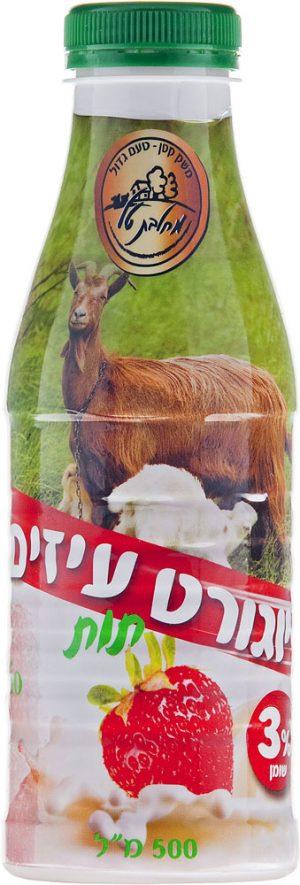 Yogurt Goat's Milk Strawberry 3% Tal Dairy 500 ml